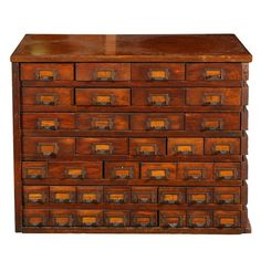 1900 Solid Oak Store Display Cabinet Imagine the trinkets that could get lost in these drawers LOL Shabby Chic Furniture, Antique Furniture, Cool Furniture, Furniture Design, Painted Furniture, Bead Storage, Craft Storage, Drawer Shelves, Antique Cabinets
