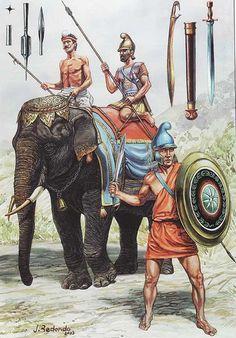 -0300 c. Guerreros del diadochi (posiblemente seléucidas) Воины диадохов (возможно Селевкидов)