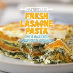 Our solution to meat free mondays - a tempting roasted pumpkin, spinach & ricotta lasagne. Veggie Recipes, Vegetarian Recipes, Dinner Recipes, Cooking Recipes, Healthy Recipes, Lasagne Dish, Vegetarian Lasagne, Roast Pumpkin, Meals
