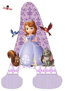 Letras a sofia the first Princess Sofia Birthday, Princess Sofia The First, Sofia The First Birthday Party, Princess Party, Mickey Mouse Parties, Mickey Mouse Clubhouse, Mickey Mouse Birthday, Tangled Birthday, Tangled Party