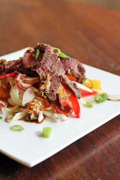 Asian Steak Salad (Dressing listed on recipe not on website - use another preferred dressing)