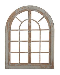 Make an elegant addition to your space with this Lola Distressed Cream Arch Mirror. This two-tone mirror will add distinguished flair to your home décor. Arched Window Mirror, Arched Wall Decor, Arch Mirror, Wooden Wall Decor, Frame Wall Decor, Arched Windows, Wooden Walls, Frames On Wall, Mirror Ideas