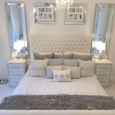 Home Interior Living Room .Home Interior Living Room Romantic Bedroom Design, Grey Bedroom Decor, Luxury Bedroom Design, Girl Bedroom Designs, Stylish Bedroom, Room Ideas Bedroom, Master Bedroom, Simple Bedroom Design, Ikea Bedroom