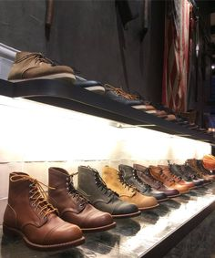 Red Wing Shoes Amsterdam — The Iron Ranger family on the shelves of our. Red Wing Boots, Brown Boots, Adventure Boots, Red Wing Iron Ranger, Mens Boots Fashion, Style Retro, Shoe Boots, Man Boots, Mens Clothing Styles