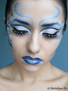 fantasy eyeshadow designs | Winter Fairy (fantasy makeup) | Fetelespun.ro