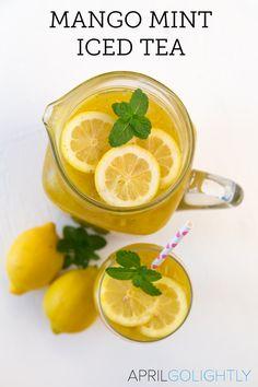 summer with this Mango Mint Iced Tea Recipe using Lipton Cold Brew Tea ...