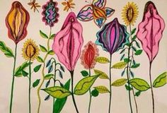 Or this hand-drawn garden of vulvas. 24 Subtly Gorgeous Ways To Add More Vaginas To Your Home Mandala Lunar, Birth Art, Exotic Art, Sacred Feminine, Feminist Art, Art Inspo, Art Drawings, How To Draw Hands, Artsy