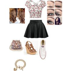 #SK8TR GIRL by purplepoponedirection on Polyvore featuring polyvore, fashion, style, Converse, Delicious and Juicy Couture