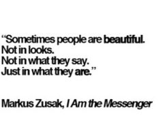 """I Am the Messenger"" by Markus Zusak"