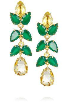 quartz / onyx earrings