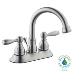 Glacier Bay Mandouri 4 in. Centerset 2-Handle High-Arc Bathroom Faucet in Brushed Nickel-67513W-6004 - The Home Depot