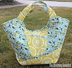 This carry all bag looks great dressed up in coordinating fabrics and is large enough for overnight trips or trips to the beach. The small pocket on the fr