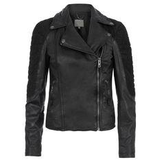 Xera Quilted Biker Jacket Black