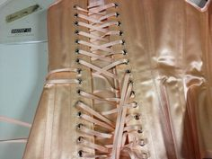 Bespoke overbust corsets back view,made by Anni Hiro/hiroNIA