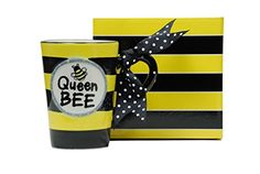 Whimsical Queen Bee 13 oz Coffee Mug with Polka Dot Bow on Handle Gift Boxed >>> Read more reviews of the product by visiting the link on the image.