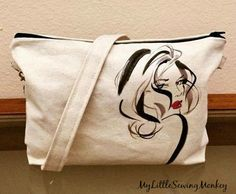 Duck cloth Canvas Crossbody Bag with transferred image