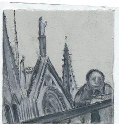 Notre Dame. Paris. Andi Ipaktchi illustration. illustratrice.com