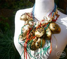 The Work of BillyBoy* & Lala - Surreal Bijoux - Surreal Bijoux Fantasy Jewelry, Mussels, Baroque, Surrealism, Costume Jewelry, Creations, Dali, Christmas Ornaments, Gold Leaf