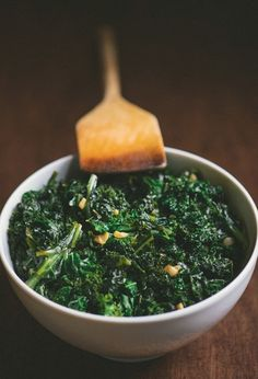 Garlicky Kale - Pair it with sweet potatoes for a dreamy fall sushi.