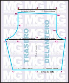 EL BAÚL DE LAS COSTURERAS: Trazado de patrón pantalón tipo ciclista