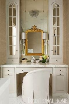 lovely mirror on mirror and dressing table,South Shore Decorating Blog: Tuesday Eye Candy