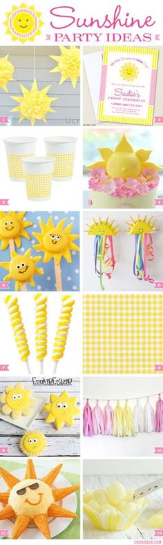 You Are My Sunshine party ideas. Super sweet!