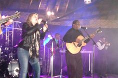 Karen Zoid and Vusi Mahlasela at the DRUM Beat Concert 2012