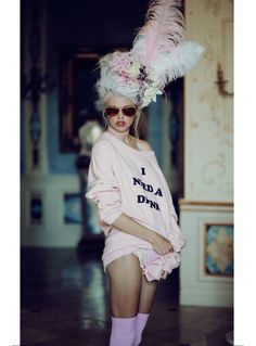 Marie Antoinette's got nothing on her! Check out the Wildfox fall look book that is truly fit for a queen! #Wildfox #MarieAntoinette #queen #royal