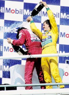 2 of the most important drivers ever. #keepfightingmichael