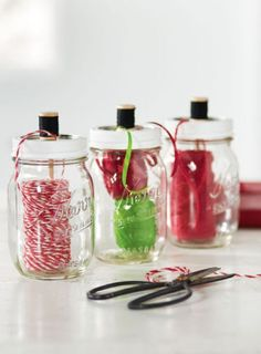 Mason Jar Twine Dispenser