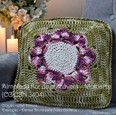 Схема вязания крючком подушки для дивана (4) (609x605, 422Kb)