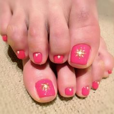 2013.04.28 Summer pink row nail art