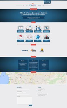 Site institucional com base wordpress da empresa de pequeno porte Forlinux.