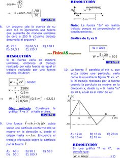 FISICA PROBLEMAS RESUELTOS: TRABAJO - POTENCIA Y ENERGÍA MECÁNICA EJERCICIOS DESARROLLADOS IMPRIMIR GRATIS Physique, Exercise, Technology, Formulas, Maths, Kinetic Energy, Free Printable, Excercise, Tech