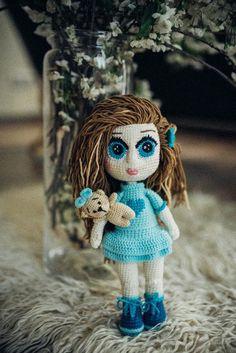 Mädchen, Crochet, Plüschtier, Weich Spielzeug, Kuscheltier, Geburt, Gehäkelt, Toy  baby, kid gift Crochet Toys, Snowman, Teddy Bear, Etsy, Outdoor Decor, Gift, Animals, Cuddling, Craft Gifts
