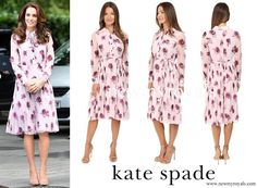 Kate Middleton wore 'Kate Spade New York! Encore Rose Chiffon Dress www.newmyroyals.com