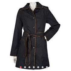 """Dennis Basso Water Resistant Coat w/ Croco Trim Used in great condition! Full lining, back vent, button-front closure, faux-croco trim, rounded collar, welt pockets, turn-back button cuffs, removable flat faux-fur lining, chain with Dennis Basso logo on interior 3X (26W-28W) Relaxed fit; 3X 36-1/4"""". Shell lining 100% polyester; faux-fur lining shell/lining 100% polyester; trim polyurethane face with polyester backing. Machine washable! Dennis Basso Jackets & Coats"""