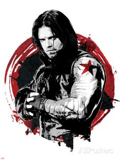 Captain America: Civil War - Winter Soldier (Bucky Barnes) Poster