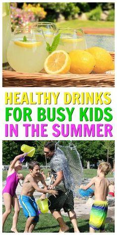 Healthy Drinks For Kids That Aren't Water [20+ Recipes] via @ellenblogs