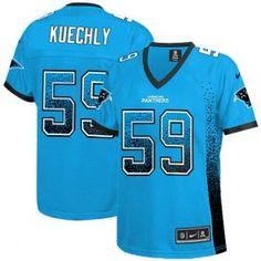 f498829356d Women s Nike Carolina Panthers  59 Luke Kuechly Elite Blue Drift Fashion  NFL Jersey