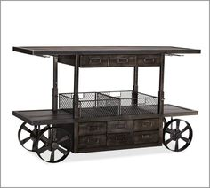 Sheffield Entertaining Bar Cart traditional bar carts