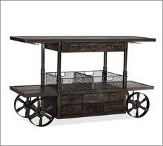Sheffield Entertaining Bar Cart traditional bar carts