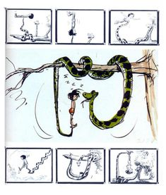 The Jungle Book (1967) | storyboards by Vance Gerry, Floyd Norman, and Ken Anderson (x)