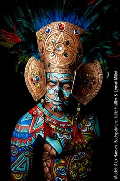 This work, amazes us every time again! This work, amazes us every time again! Aztecas Art, Aztec Culture, Aztec Warrior, Mesoamerican, Make Up Art, Chicano Art, Indigenous Art, Mexican Art, Expo