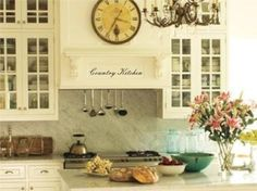 Country kitchen | (MUUR) STICKERS | Woudhof Wonen & Meer