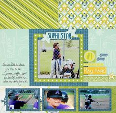 Be Young Projects: Super Star Be Young Scrapbook Layout Project Idea