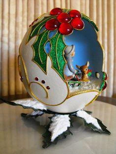 ostrich egg decoration