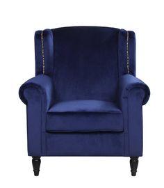 Riffe Classic Velvet Armchair