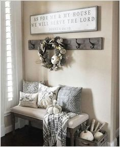 Front entry hallway ideas chic ways to decorate your entryway wall 2 for the home home home decor entryway decor house entrance hall ideas Entryway Wall, Entryway Ideas, Fall Entryway, Entry Bench, Apartment Entryway, Entrance Ideas, Rustic Entryway, Narrow Entryway, Hallway Ideas