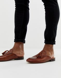 Buy H by Hudson Caradon woven tassel slip on loafers in tan at ASOS. Get the latest trends with ASOS now. Cut And Style, Huaraches, Loafers Men, Fashion Online, Tassels, Slippers, Footwear, Slip On, Flats